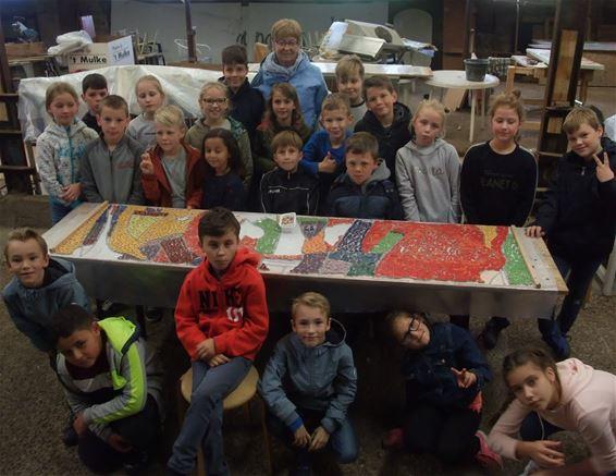Basisschool De Driehoek bezoekt GAlandART