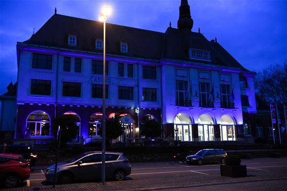 Casino kleurt blauw