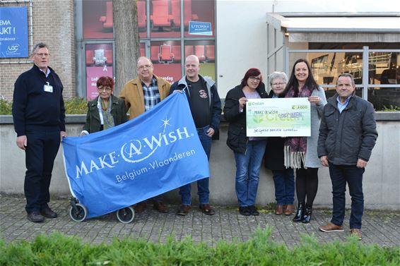 Cheque van 1.000 euro voor 'Make a Wish'