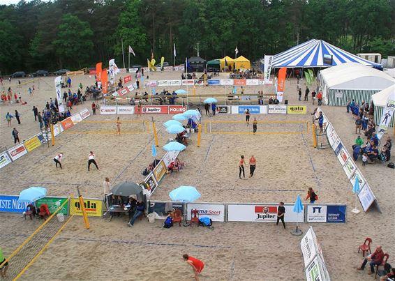 Het weekend van het beachvolleybal