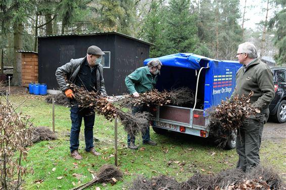 Jagers planten 24.000 hagen en bomen
