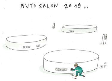 Laatste voorbereidingen  Autosalon