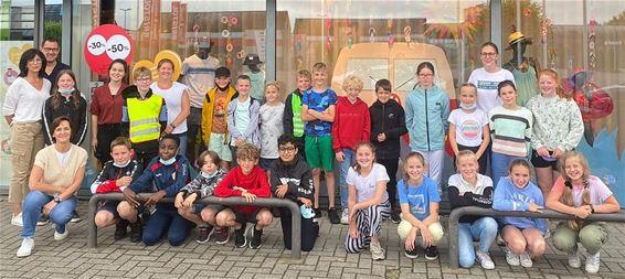 Lilse leerlingen aan het werk in Lommel