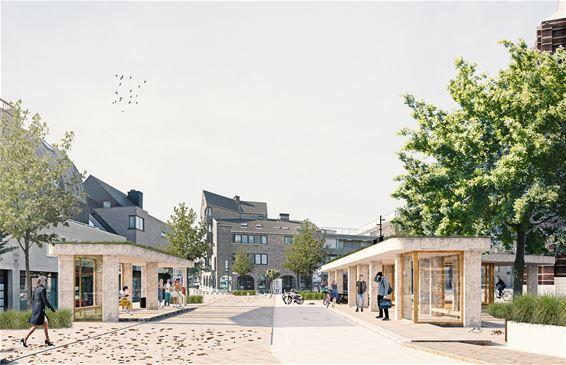 Nieuw bushalte en fietsenstalling op Kerkplein