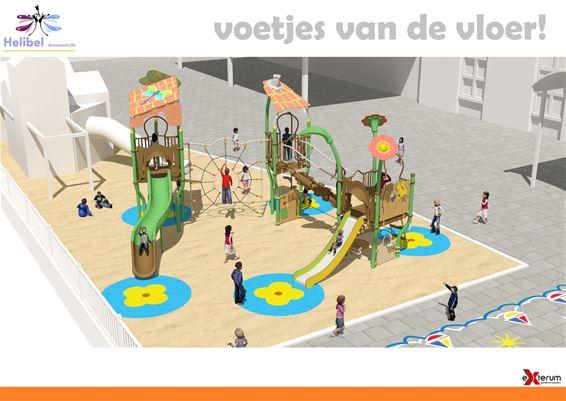 Nieuw speeltuig voor basisschool Helibel Lille