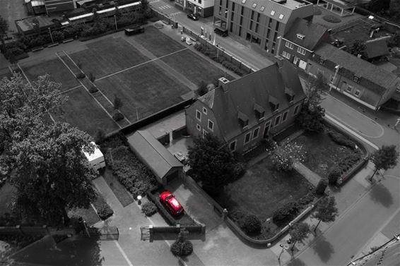 Pastorie Overpelt-Centrum vanuit de lucht