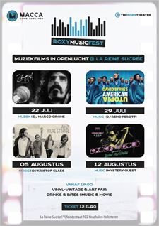 Roxy Film Fest met muziek, films en kunst