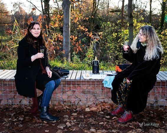 Samen op een benkske in Lille