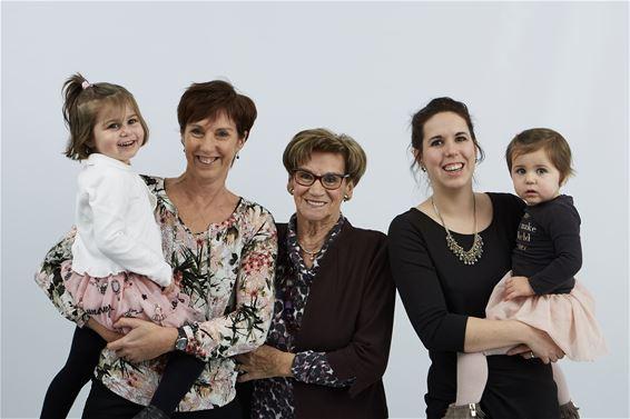 Tweemaal vier generaties