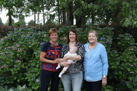 Vier generaties in vrouwelijke lijn