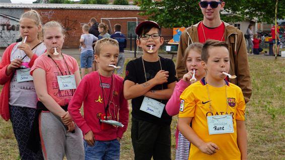 Volksspelen voor kinderen tijdens de kermis
